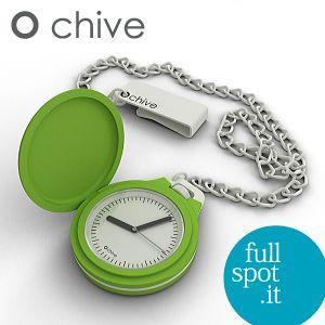 オ・チャイブ 【O chive】 グリーン アートな懐中時計|jwo-bessho