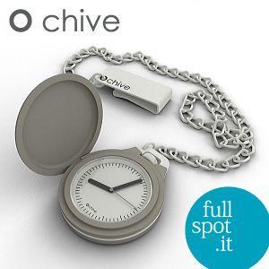 オ・チャイブ 【O chive】 グレー アートな懐中時計|jwo-bessho