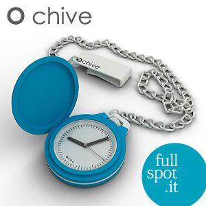 オ・チャイブ 【O chive】 ライトブルー アートな懐中時計|jwo-bessho