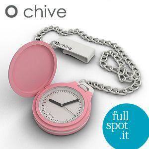 オ・チャイブ 【O chive】 ピンク アートな懐中時計|jwo-bessho