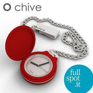 オ・チャイブ 【O chive】 レッド アートな懐中時計|jwo-bessho