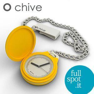 オ・チャイブ 【O chive】 イエロー アートな懐中時計|jwo-bessho