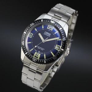 オリスは安心の正規販売店で ORIS ダイバーズ'65 40mm Divers'65 ブルー×ブラック SSブレス 正規輸入品 73377074035M jwo-bessho