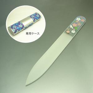 ガラスの爪やすり【小】 ネイルファイル ◆専用ケースつき◆ さくら|jwo-bessho