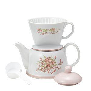 【商品名】 Kalita(カリタ) ツーウェイドリップセット フラワー/陶器製ドリッパー、陶器製ポッ...