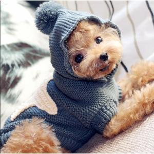 犬服 ニットセーター トレーナー かわいい おしゃれ ペット服 ドッグウェア 小型犬 中型犬 ペット...