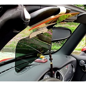 車用サンバイザーダブルバイザータイプ防眩サンバイザー クリーニングクロス付き|jxshoppu