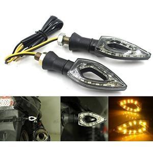 バイク用LEDウィンカー12v対応ブラックボディ橙LEDスティックタイプ|jxshoppu