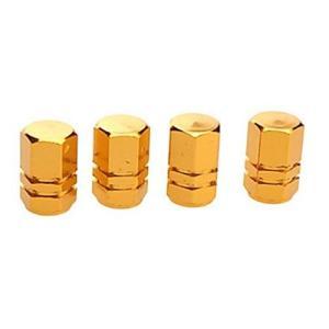 タイヤ エア バルブ キャップ 4個セット ゴールド 金 アルミ エアーバルブキャップ 車 カー用品|jxshoppu