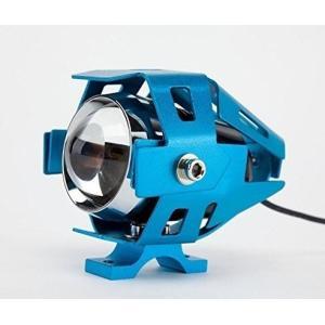 バイクフォグランプLED1個発光3000ルーメンLEDカラー:ホワイト本体「ブルー」|jxshoppu