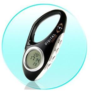 デジタルコンパス付きカラビナ登山でも携帯できるバックLEDライト搭載夜間使用温度時計搭載|jxshoppu