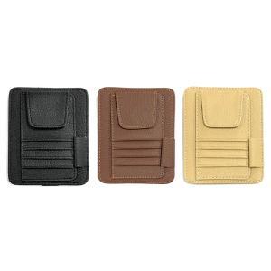 ・車のサンバイザーに取り付け可能なサングラスホルダー、カード入れです。 ・マジックテープで固定するだ...