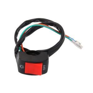 ハンドルバー 12V DC ライト+OFFスイッチ 電機システム バイク オートバイ スクーター フォグライト スイッチ 汎用 ハンドル|jxshoppu