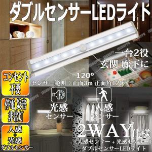 ・消し忘れがなく、簡単に取り付け可能なダブルセンサー(人感センサー + 光感センサー)ライトです。 ...