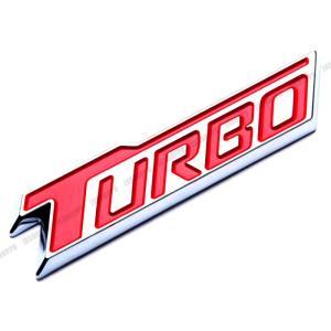 TURBO エンブレム ステッカー ロゴ レッド 赤 メタル 立体 カスタム パーツ スポーツ ドレスアップ|jxshoppu