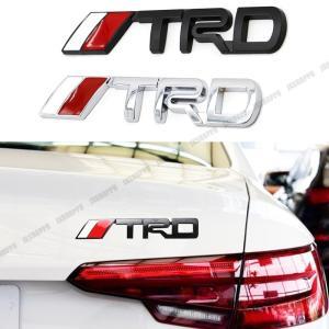 TRD エンブレム ステッカー ロゴ シルバー メタル 立体 3D TOYOTA カスタム パーツ ドレスアップ カー用品 外装|jxshoppu