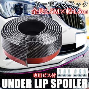 汎用 リップスポイラーモール カーボンブラック 2.5M 外装 パーツ エアロ カスタム ドレスアップ 日本語説明書付き|jxshoppu