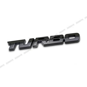 TURBO エンブレム ステッカー ロゴ ブラック 黒 メタル 立体 ターボ カスタム パーツ ドレスアップ|jxshoppu
