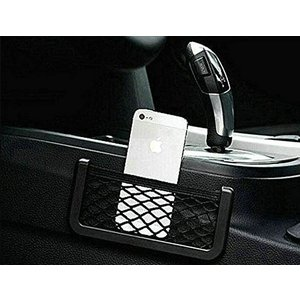 車内 ネットポケット小物入れメッシュ 取付簡単 両面テープ【大サイズ】|jxshoppu