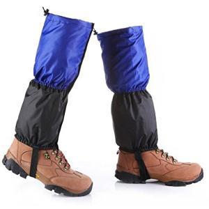 アウトドアゲーター登山スパッツゲイターロングスパッツ撥水加工防寒に子供用  (ブルー)|jxshoppu
