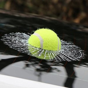 思わず 二度見 イタズラ カー ステッカー 車 びっくり ( テニスボール )|jxshoppu