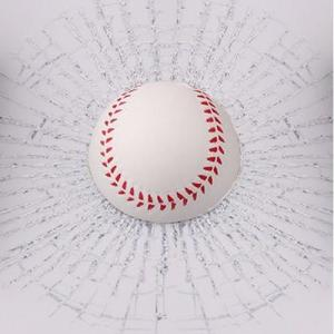 思わず 二度見 イタズラ カー ステッカー 車 びっくり ( 野球ボール )|jxshoppu