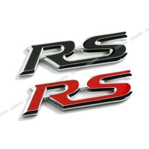 RS エンブレム ステッカー ロゴ メタル 立体 3D 英語 アルファベット カスタム パーツ ドレスアップ カー用品 外装|jxshoppu