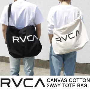 RVCA ルーカ キャンバスコットン 2WAY トートバッグ...