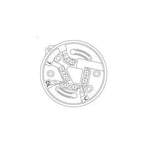 【Panasonic パナソニック】確認灯付感知器ベース(2信号感知器用)[BV4860]|jyakudenkan