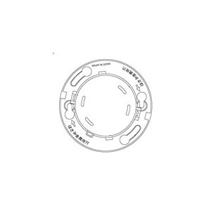 【Panasonic パナソニック】確認灯付速結式感知器ベース埋込型(小型タイプ・コネクタ付)[BVK46071]|jyakudenkan