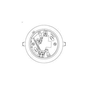 【Panasonic パナソニック】確認灯付速結式感知器ベース埋込型(3線式)(コネクタなし)[BVK4037]|jyakudenkan