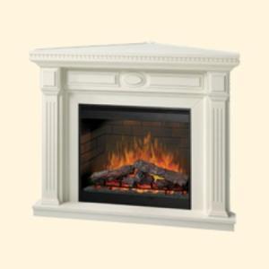 【ディンプレックス/Dimplex】電気式暖炉オヴェーション・30インチシリーズ/暖炉棚/スタンフォードコーナー(ホワイト) jyakudenkan