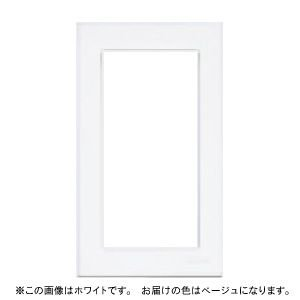 【Panasonic パナソニック】「こまめにスイッチ」スイッチプレート(1連用)(スクエア)(ベージュ)[WT8101F]|jyakudenkan
