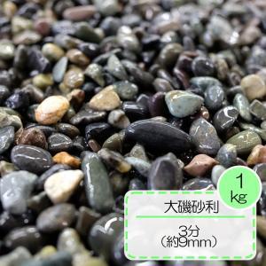 砂利 グレー 園芸 敷砂利 水槽 天然石  大磯砂利 フィリピン 3分 (約9mm) 1kg入り