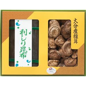 ●椎茸(香信)60g・昆布100g  化粧箱入 箱サイズ:約38.5×29.5×4cm 箱重...