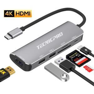 USB C ハブ 6in1 Type C ハブ ドッキングステーション 4K HDMI出力 ・ US...