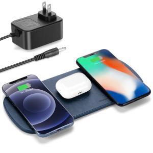 3台同時15W急速充電 qi 充電器 ワイヤレス充電器 無線充電器 ワイヤレスチャージャー ipho...
