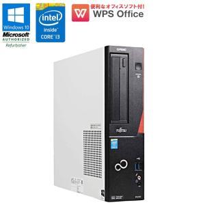 在庫わずか! WPS Office付 中古 デスクトップパソコン 富士通   ESPRIMO D552/K Windows10 Pro Core i3 4160 3.60GHz メモリ4GB HDD320GB DVDマルチ 初期設定済|jyohokaikan-ys