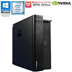 限定1台 中古 デスクトップ DELL PRECISION TOWER 5810 Windows10 Xeon E5-1607 v3 メモリ16GB 新品SSD480GB HDD3TB DVD-ROM NVIDIA Quadro M4000|jyohokaikan-ys