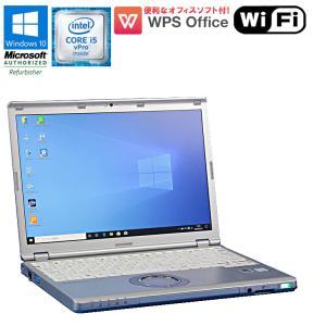 在庫わずか! 中古 ノートパソコン Panasonic Let's note CF-SZ5 Windows10 Core i5 vPro 6300U 2.4GHz メモリ4GB HDD320GB ドライブレス 初期設定済|jyohokaikan-ys