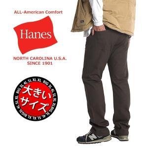 大きいサイズ メンズ チノパン ヘインズ Hanes ズボン...