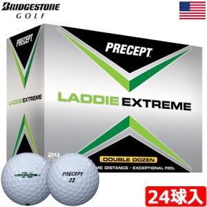 ブリヂストンゴルフ BRIDGESTONE GOLF プリセプト PRECEPT 2017 LADDIE EXTREME (ラディ エクストリーム) ボール 24球入(2ダース分)(USA直輸入品) USモデル|jypers