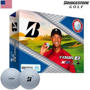 ブリヂストンゴルフ BRIDGESTONE GOLF TOUR B XS TIGER WOODS EDITION (タイガー・ウッズ エディション) ボール 1ダース(12個) USA直輸入品 MEGASALE|jypers
