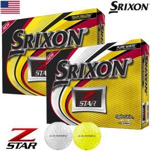 スリクソン 2019 Z-STAR ゴルフボール 1ダース USA直輸入品 ウレタンカバー 3ピース|jypers