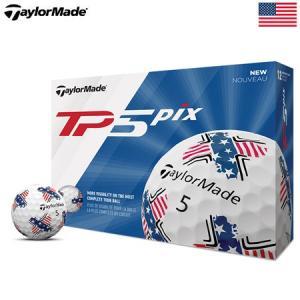 テーラーメイド 2019 TP5 Pix 星条旗柄 ゴルフボール USA直輸入品|jypers