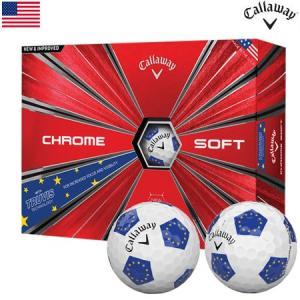 キャロウェイ CALLAWAY 2018 CHROME SOFT TRUVIS (クロムソフト トゥルービス) ボール 1ダース [EUROPEAN(欧州旗柄)](USA直輸入品) USモデル