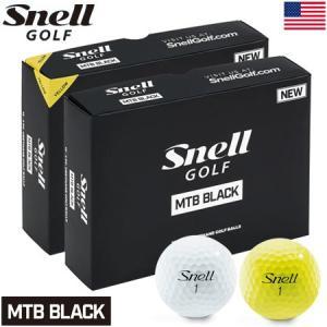スネルゴルフ 2019 MTB BLACK 3ピース キャストウレタンカバー ゴルフボール 1ダース USA直輸入品|jypers