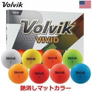Volvik ボルビック 2018 VIVID ビビッド/ヴィヴィッド マットカラーボール 1ダース (USA直輸入品) USモデル|jypers