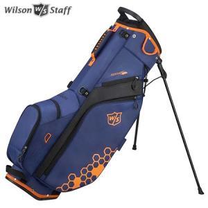 ウイルソン FEATHER CARRY BAG 9.5型 スタンド キャディバッグ ブルー/ブラック/オレンジ WILSON STAFF|jypers