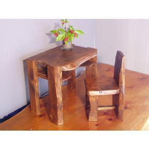 ヒノキのお子様机セットです。ヒノキ等の天然木、ムク材を使って雑貨から丸太家具まで、木のもつ暖かさを活...